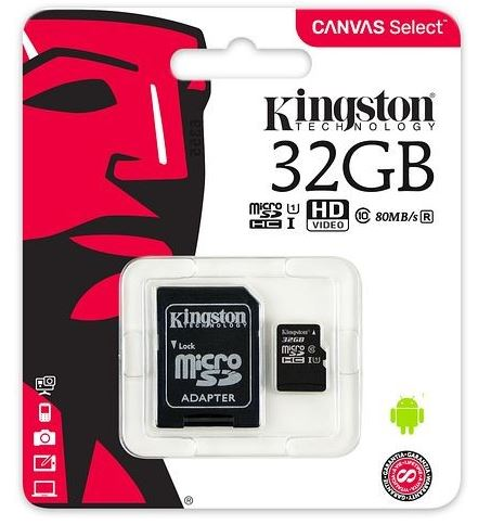 Kingston paměťová karta 32GB micro SDHC CL4